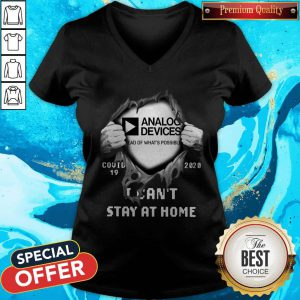 Blood Inside Me Analog Device Covid-19 2020 I Can't Stay At Home V-neck