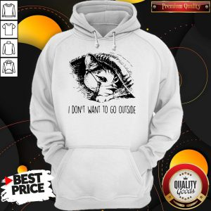 Cat Face Mask I Don'T Want To Go Outside Hoodie