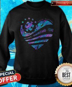 Heart Autism Awareness Accept Understand Love Sweatshirt
