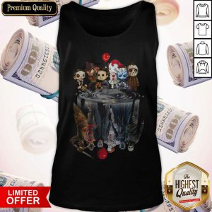 Horror Characters Movies Water Mirror Reflection Halloween Tank Top