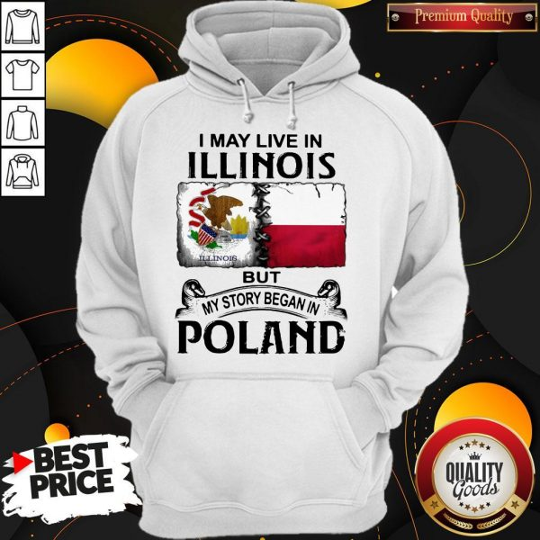 I May Live In Illinois But My Story Began In Poland Hoodie