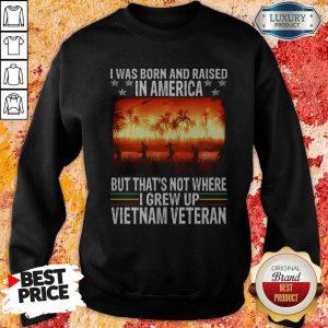 I Was Born And Raised In America But That's Not Where I Frew Up Vietnam Veteran Sweatshirt