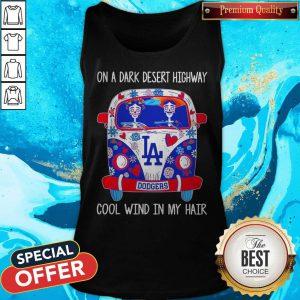Los Angeles Dodgers Hippie On A Dark Desert Highway Cool Wind In My Hair Tank Top