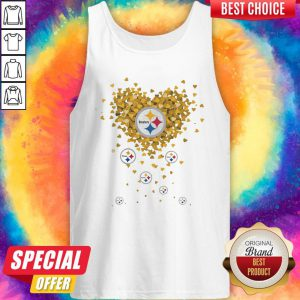 Love Pittsburgh Steelers Football Hearts Tank Top