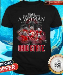 Never Underestimate A Woman Who Understands Football And Loves Ohio State Shirt