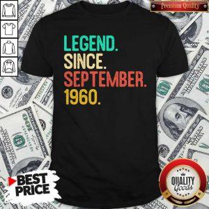 Nice Legend Since September 1960 Shirt