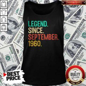 Nice Legend Since September 1960 Tank Top