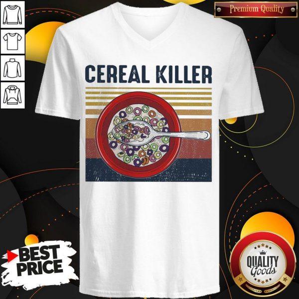 Official Cereal Killer Vintage Retro V-neck
