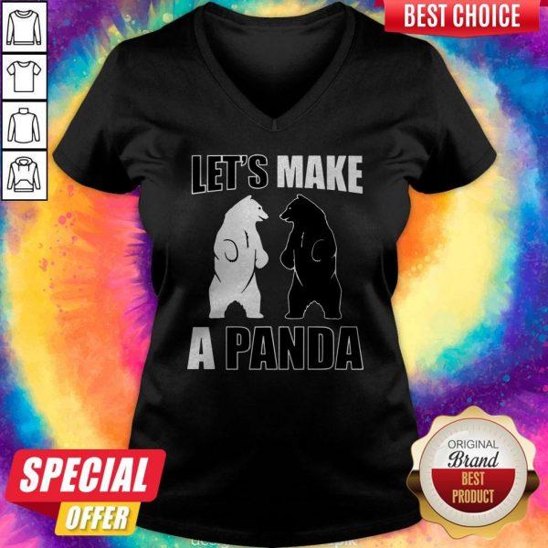 Official Let's Make A Panda V-neck