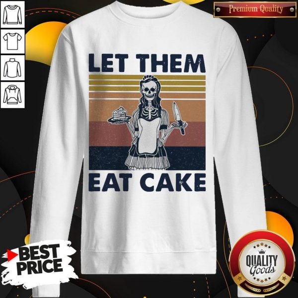 Official Skull Let Them Eat Cake Vintage Retro Sweatshirt