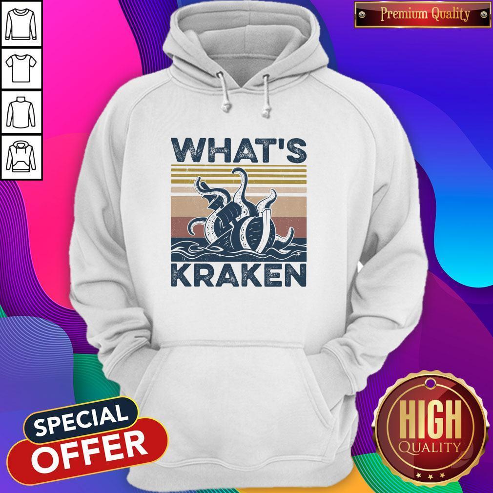 Official What?s Kraken Vintage Hoodie