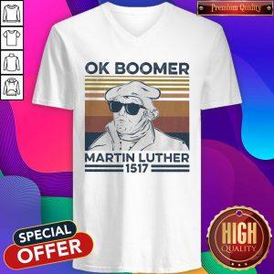 Ok Boomer Martin Luther 1517 Vintage V-neck