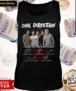 One Direction Thank You For Everything Signature Tank Top
