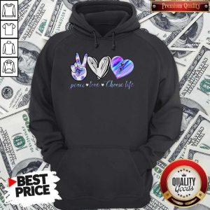 Peace Love Choose Life Mickey Mouse Hoodie