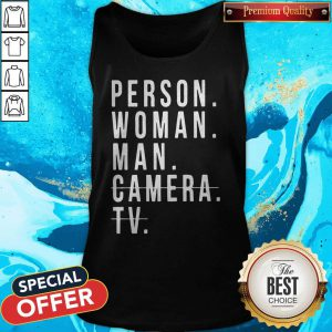 Person Woman Man Camera TV Trump Cognitive Test Tank Top