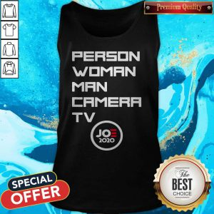 Person Woman Man Camera Tv Trump Funny Joe 2020 Tank Top