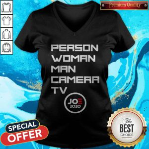 Person Woman Man Camera Tv Trump Funny Joe 2020 V-neck