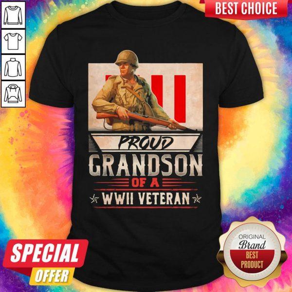Proud Grandson Of A Wwii Veteran Shirt