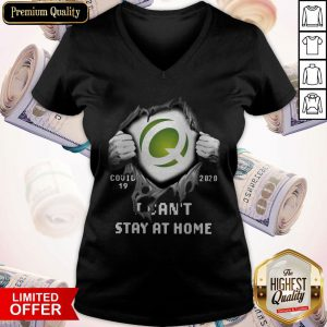 Quest Diagnostics Inside Me Covid-19 2020 I Can't Stay At Home V-neck