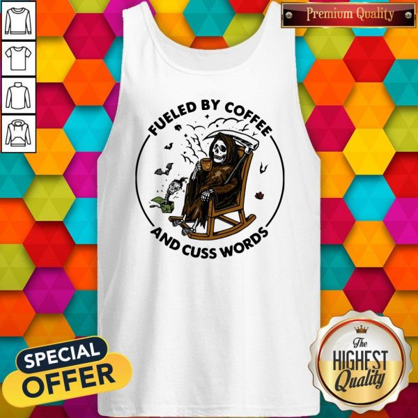 Skeleton Fueled By Coffee And Cuss Words Tank Top