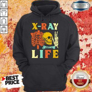 Skeleton X-Ray Life Vintage Hoodie