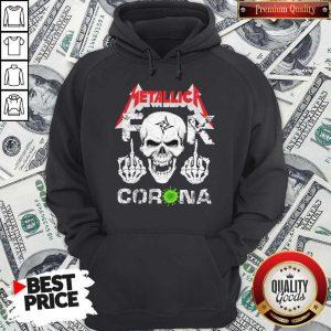 Skull Metallica Fuck Corona Hoodie