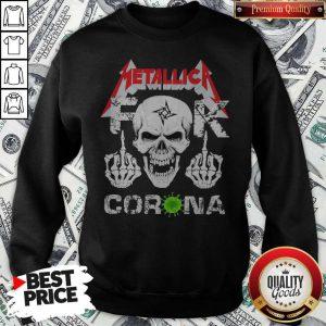 Skull Metallica Fuck Corona Sweatshirt