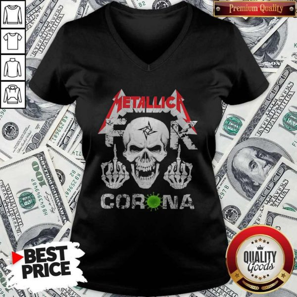 Skull Metallica Fuck Corona V-neck