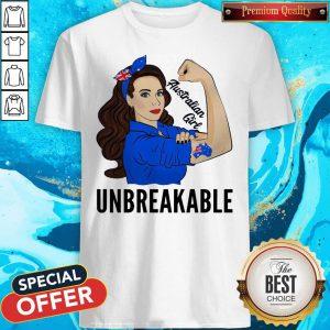 Strong Woman Tattoo Australian Girl Unbreakable Shirt