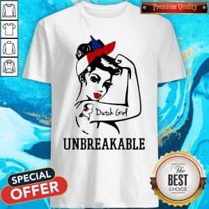 Strong Woman Tattoo Dutch Girl Unbreakable Shirt