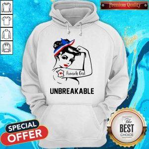 Strong Woman Tattoo French Girl Unbreakable Hoodie