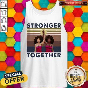 Stronger Together Girl Vintage Retro Tank Top