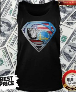 Superman Golden State Warriors And Oakland Raiders Tank Top