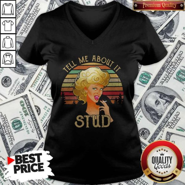 Tell Me About It Grease Stud Vintage V-neck