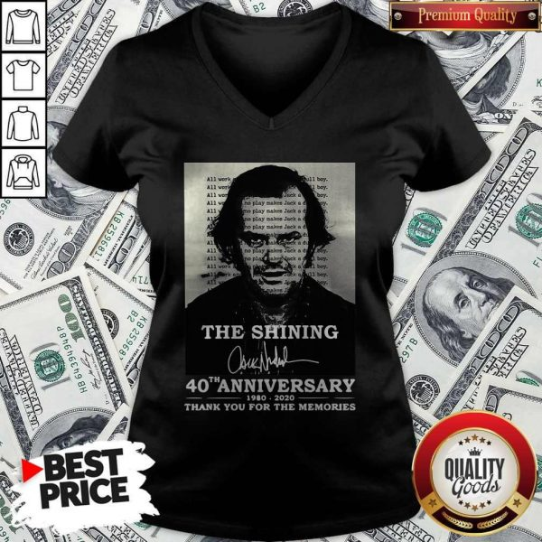 The Shining 40th Anniversary 1980 2020 Thank You For The Memories Signature V-neck