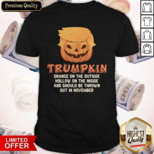 Trumpkin Orange On The Outside Hollow On The Inside And Should Be Thrown Out In November Shirt