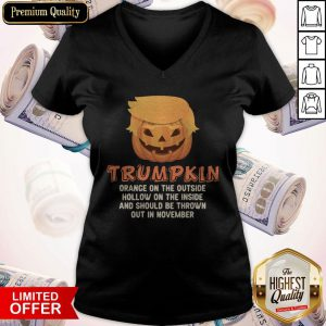 Trumpkin Orange On The Outside Hollow On The Inside And Should Be Thrown Out In November V-neck
