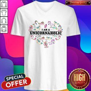 Unicorn Heart I Am Unicornaholic V-neck