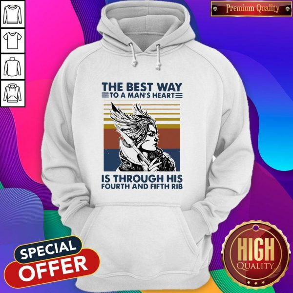 Viking Valkyrie The Best Way To The Man's Heart Vintage Hoodie