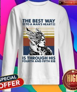 Viking Valkyrie The Best Way To The Man's Heart Vintage Sweatshirt