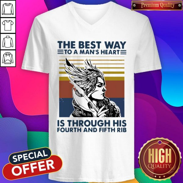 Viking Valkyrie The Best Way To The Man's Heart Vintage V-neck