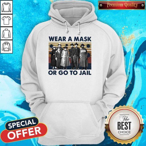 Wear A Mask Or Go To Jakl Coronavirus Vintage Retro Hoodie