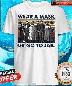 Wear A Mask Or Go To Jakl Coronavirus Vintage Retro Shirt
