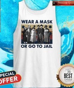Wear A Mask Or Go To Jakl Coronavirus Vintage Retro Tank Top