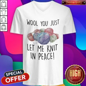 Wool You Just Let Me Knit In Peace V-neck