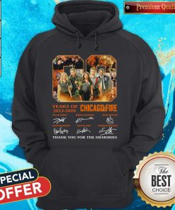 08 Years Of 2012 2020 Chicago Fire Signatures Hoodie
