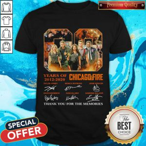 08 Years Of 2012 2020 Chicago Fire Signatures Shirt