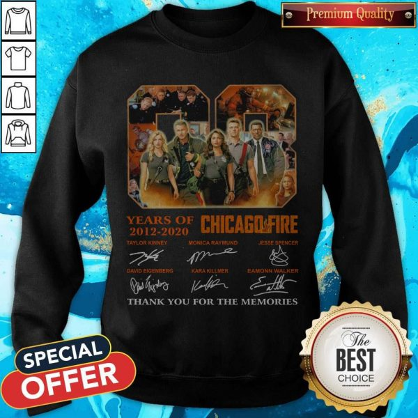 08 Years Of 2012 2020 Chicago Fire Signatures Sweatshirt
