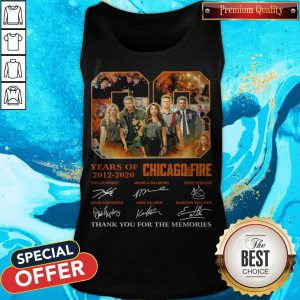08 Years Of 2012 2020 Chicago Fire Signatures Tank Top