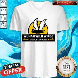 Bat Wuhan Wild Wings So Good It's Contagious Coronavirus V-neck